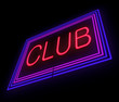 Neon Club sign.