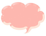 3d pink speech bubble illustration