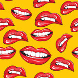 Fototapety Lips seamless pattern