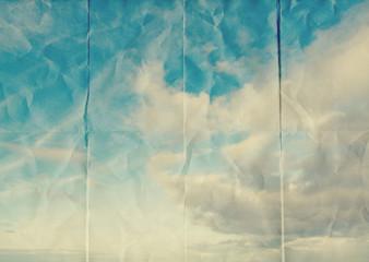 folded paper sky