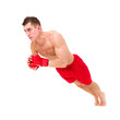 Boxer man doing exercise