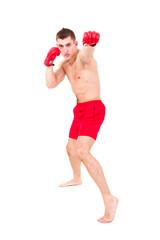 Boxer man doing exercise
