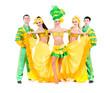 Sexy carnival dancers dancing