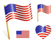 Set of Country USA flag icons