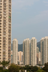 high-rises in Sha Tin
