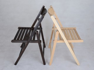 Folding lungs and strong wooden chairs from a beech