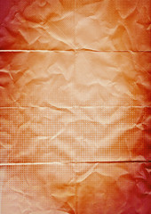 folded orange paper background