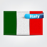 Fabric texture of the flag of Italy