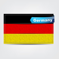Fabric texture of the flag of Germany