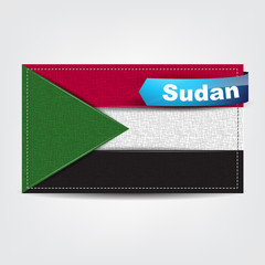 Fabric texture of the flag of Sudan