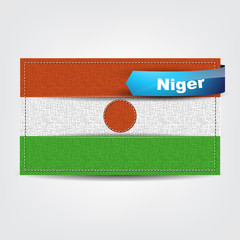 Fabric texture of the flag of Niger