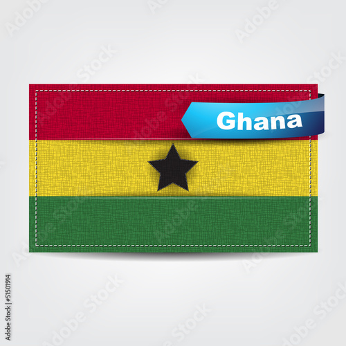 Fabric texture of the flag of Ghana