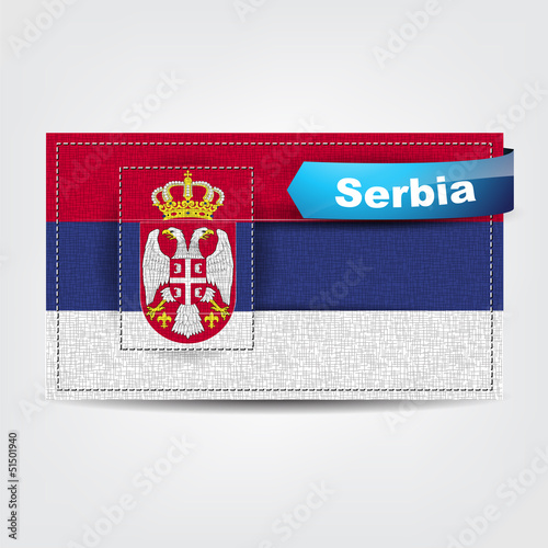 Fabric texture of the flag of Serbia