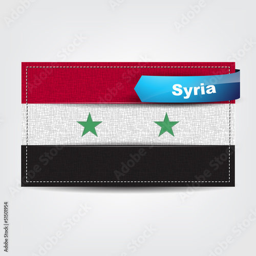 Fabric texture of the flag of Syria