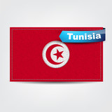 Fabric texture of the flag of Tunisia