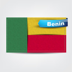 Fabric texture of the flag of Benin