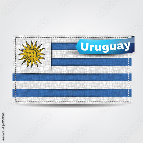 Fabric texture of the flag of Uruguay