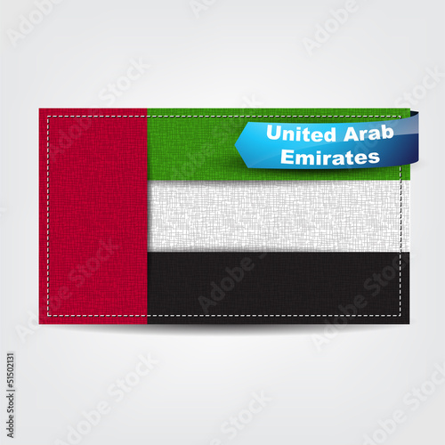 Fabric texture of the flag of United Arab Emirates