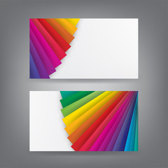 Color theme business card template