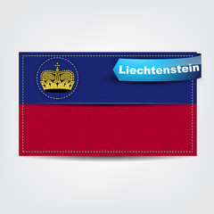 Fabric texture of the flag of Liechtenstein