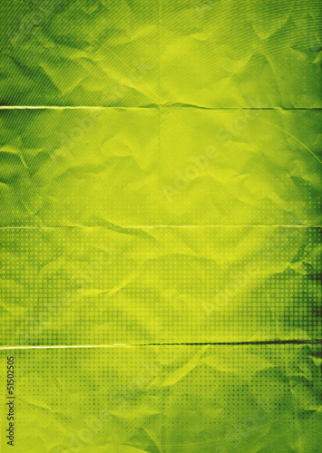 folded green paper background
