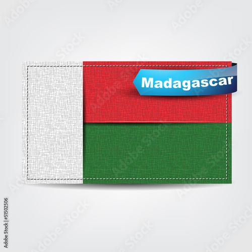 Fabric texture of the flag of Madagascar