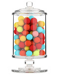 3d Candy jar isolated on white