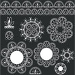 set of lacy decorative elements for design
