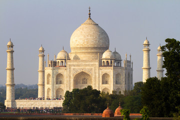 View of Taj Mahal, Agra, Uttar Pradesh, India