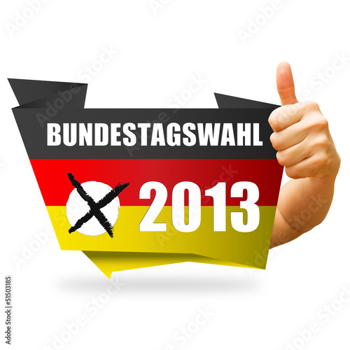 Bundestagswahl 2013! Button, Icon