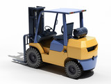 Forklift loader close-up