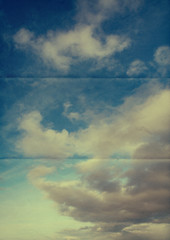 retro paper sky