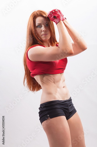 Young athletic woman