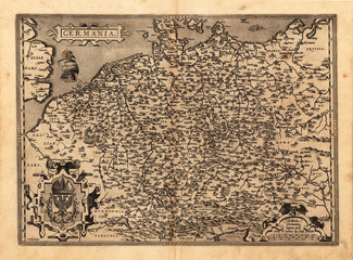 Germany vintage map