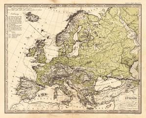 Europe vintage map
