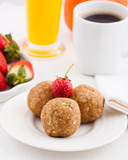 homemade truffles with Strawberries