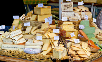 Käse Marktstand