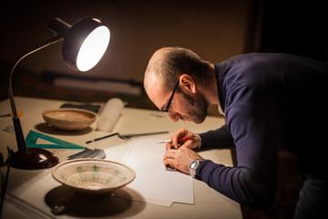 Archeologist with croks