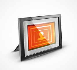 Vector photo frame 3d icon