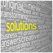 SOLUTIONS Tag Cloud (ideas projects innovation creativity team)