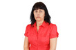 Upset middle age woman