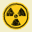 grunge nuclear radiation sign