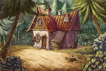 casa en medio del bosque
