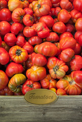 Tomatoes labeled