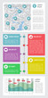 Infographics and web elements
