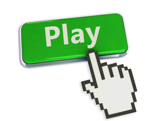 Play button with mouse hand cursor