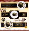 Elegant Coffee label set