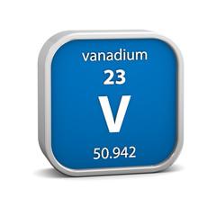 Vanadium material sign