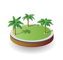 vector island