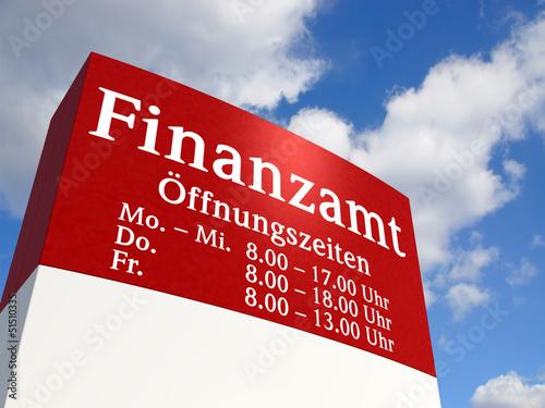 Finanzamt-Schild